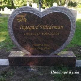 Gravsten Hjärta 135