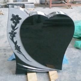 Gravsten Hjärta PG 46 Rose