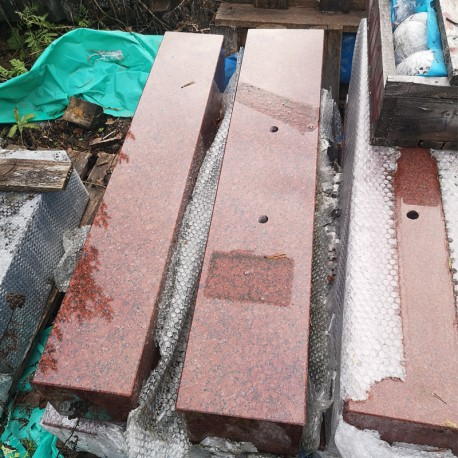 granitsockel 20x20x100 cm NH Red